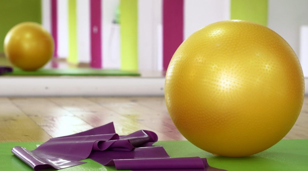 pilates mats and ball